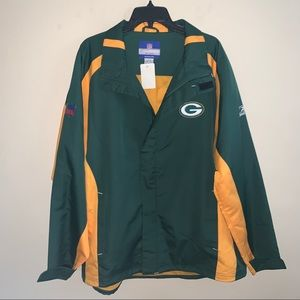 Green Bay Packers NFL Zip Up Jacket Size Large